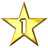 Number 1 Star Stock Photo