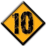 Number 10. Design of number with the sign Stock Photo