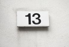 Number 13 Royalty Free Stock Image