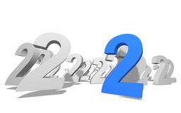 Number. Group of number on white background royalty free illustration