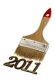 Number 2011 and brush Stock Images
