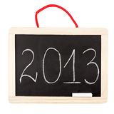 Number 2013 on small blackboard Stock Photos