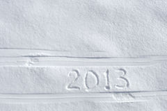Number 2013 on snow Royalty Free Stock Images