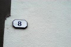 Number. Door number Royalty Free Stock Image