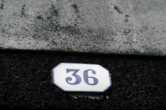 Number. Door number Royalty Free Stock Images