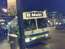Number 3 stops very near to Zocalo's - Roland N73 in Vancouver 180 royalty free stock photos