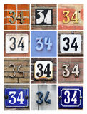 Number 34 Royalty Free Stock Photo