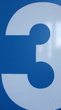 Number. A number on a blue background Royalty Free Stock Photos