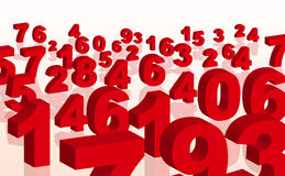 Number in 3d Royalty Free Stock Photo
