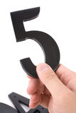Number 5. With white background Royalty Free Stock Images