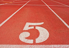 Number 5 on a Race Track Stock Photography
