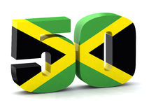 Number 50 made with Jamaican flag. The concept of the fiftieth anniversary of the independence of Jamaica Stock Images