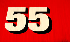 Number 55. In red, black and white Royalty Free Stock Photo