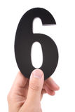 Number 6 royalty free stock photo