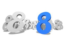 Number 8 Stock Images