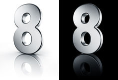The number 8 on white and black floor Royalty Free Stock Image