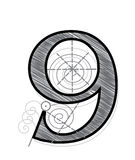 Number 9 Stock Image