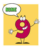 Number 9 nine guy with speech bubble royalty free illustration