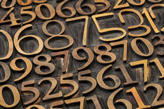 Number abstract Royalty Free Stock Images