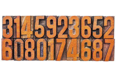 Number abstract in vintage wood type Stock Photo