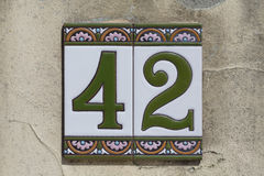 Number 42 Stock Image