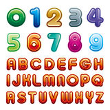 Number and alphabet Stock Images