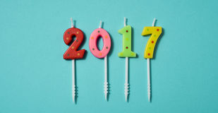 Number 2017, as the new year Stock Photo