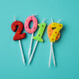 Number 2017, as the new year Stock Photography