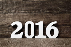 Number 2016, as the new year Stock Photography