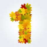 Number 1 of the autumn leaves Stock Photo