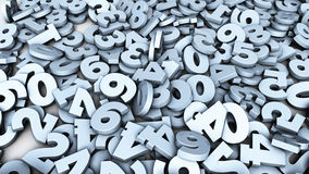 Number Background Stock Photography