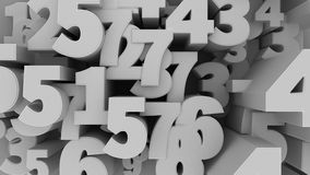 Number Background. Royalty Free Stock Images