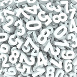 Number Background 3D Numbers in Disarray Stock Images
