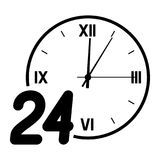 Number 24 on the background of the dial. Royalty Free Stock Photos