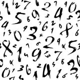 Number. Background with numbers in black and white Royalty Free Stock Photography