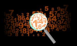 Number background zoom Stock Photography