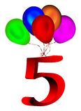 Number balloon Stock Photo