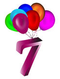 Number balloon Royalty Free Stock Photos