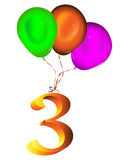 Number balloon Stock Images