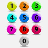 Number balls Stock Images