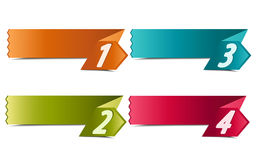4 number banners Stock Photos
