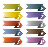 10 number banners. Vector background  number options banner, infographics options Royalty Free Stock Image