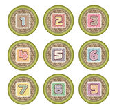 Number basket icon for kid. And web design Royalty Free Stock Image