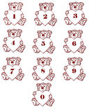 Number bear Stock Images