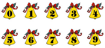 Number on the bell Stock Images