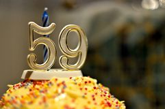 Number 59 - Birthday Cake royalty free stock photos