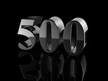 Number 500 Stock Image