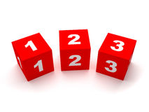 Number Blocks Stock Photography
