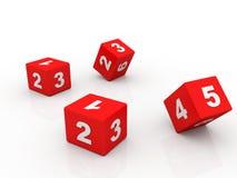 Number Blocks. On white background Royalty Free Stock Image