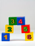 Number Blocks. On white background Royalty Free Stock Image